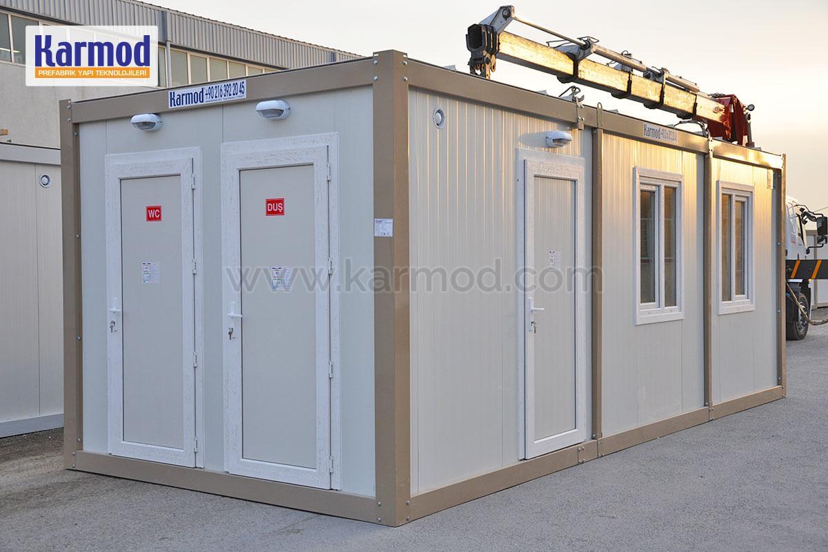 Baterías de baño para containers