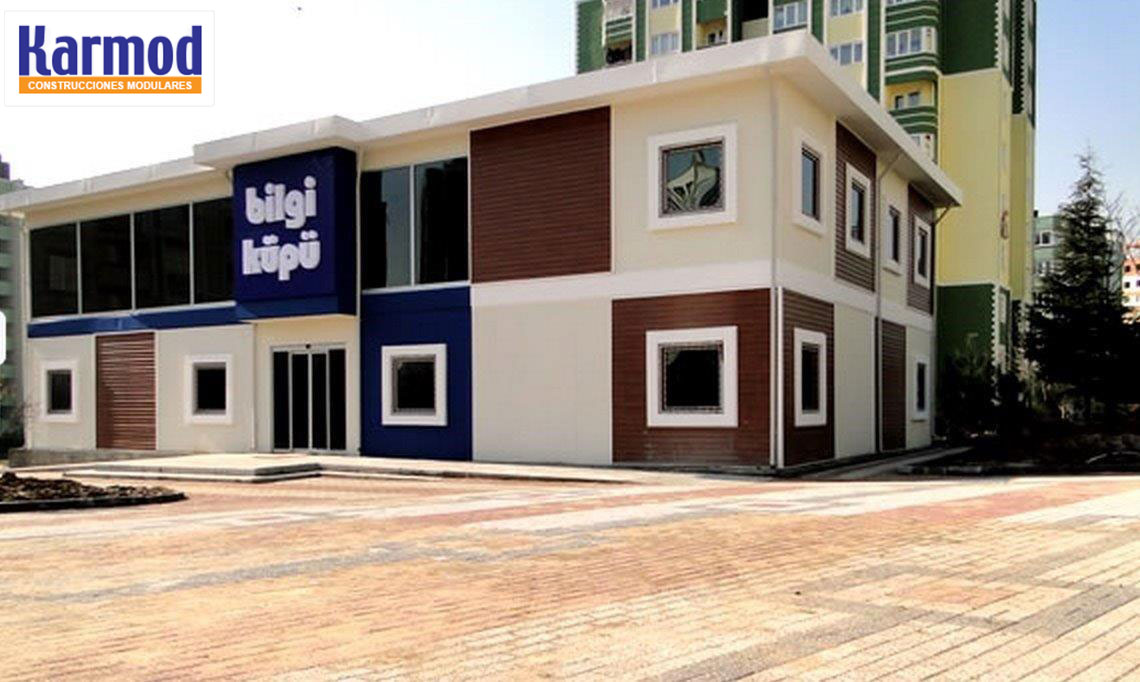 Oficinas modulares para naves oficinas prefabricadas karmod for Oficinas modulares