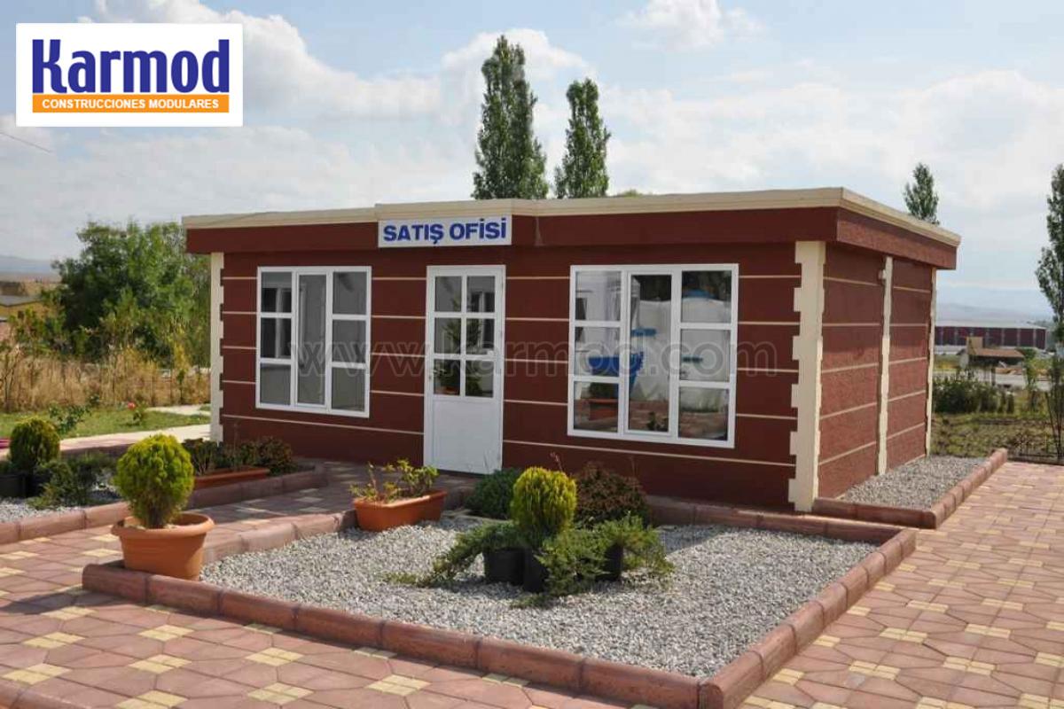 Oficinas modulares para naves oficinas prefabricadas karmod for Oficina prefabricada