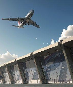 Construcciones del sitio de trabajo del Aeropuerto de Estambul