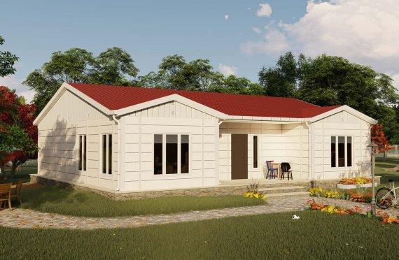 Casa prefabricada 123 m2