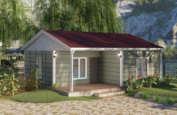 Casa prefabricada 64 m2