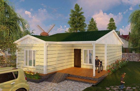 Casa prefabricada 73 m2