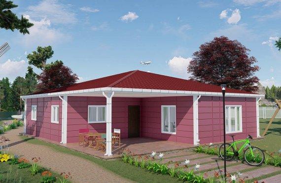 Casa prefabricada verano 123 m2