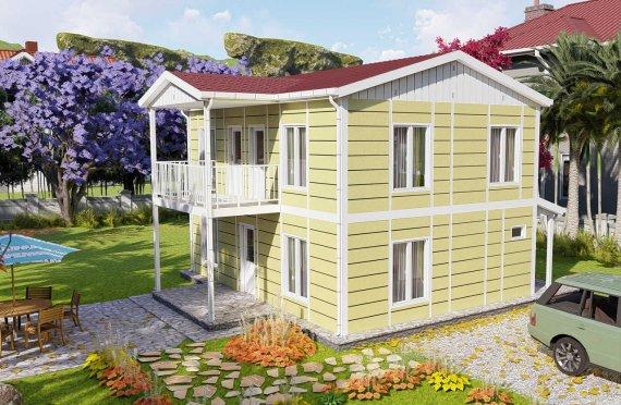 Casas prefabricadas baratas 128 m2
