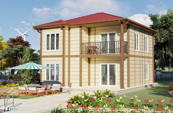Casas prefabricadas baratas 138 m2