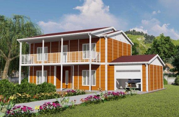 Casas prefabricadas baratas 196 m2