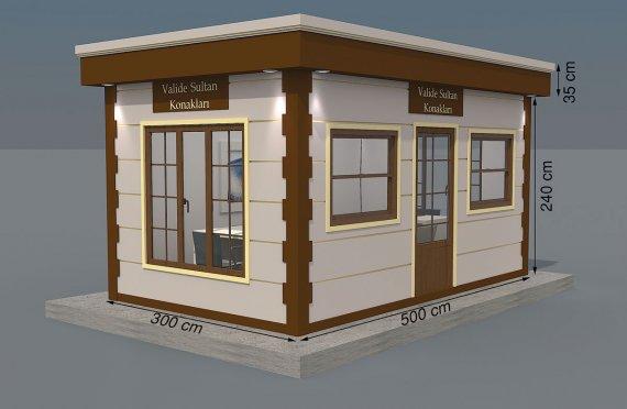 Kioscos Modernos de Madera de 300x500
