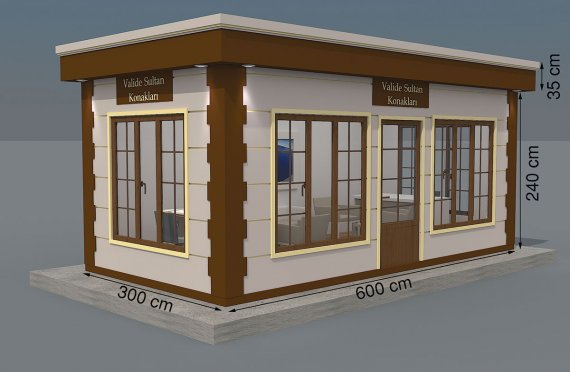 Kioscos Modernos de Madera de 300x600