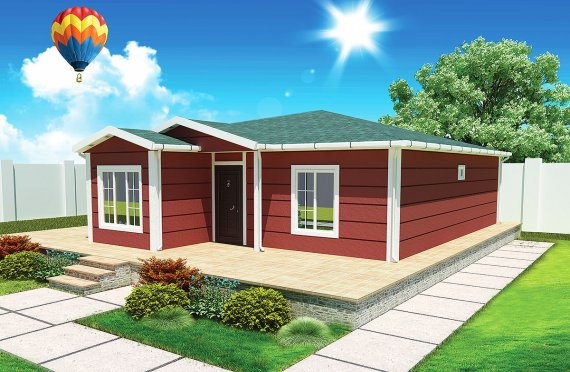 Vivienda Prefabricada de 96 m²