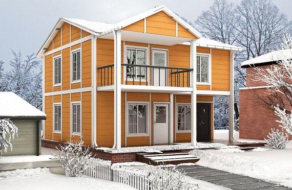 Casa Prefabricada de 112 m²