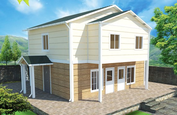 Casa Prefabricada de 114 m²