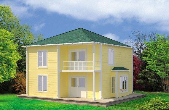 Casa Prefabricada de 124 m²