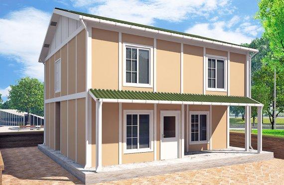 Casa Prefabricada de 127 m²