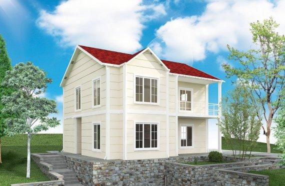 Casa Prefabricada de 132 m²