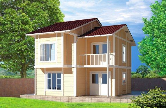Casa Prefabricada de 91 m²