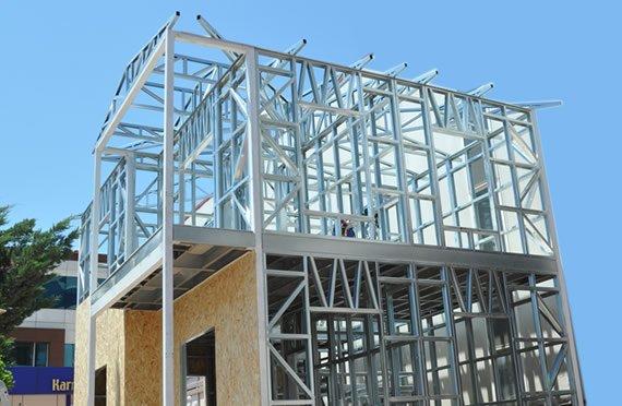 Casas De Estructura De Acero Galvanizado