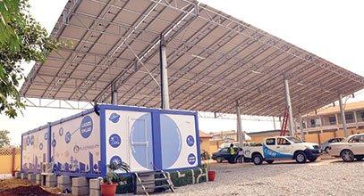 Contenedor para energía solar en Nigeria