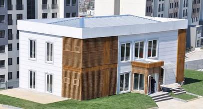 Lujosa oficina de ventas prefabricada para el proyecto Ciudad del Bósforo