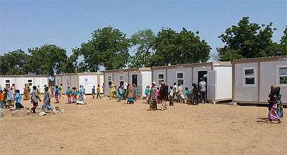 Proyecto escolar y de aula móvil en Nigeria