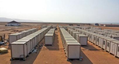 Instalación de Campamentos de trabajo para trabajadores en la mina de oro de Guinea