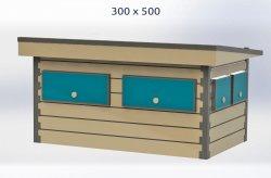 kiosco de madera precio